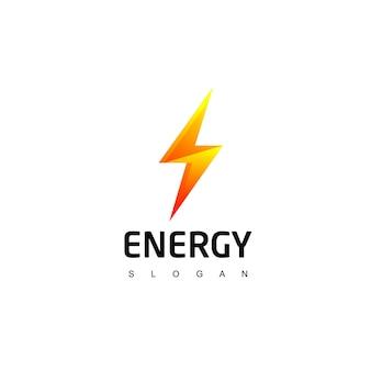 Símbolo de energía del logotipo de perno