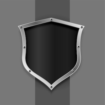 Símbolo de escudo metálico o diseño de placa