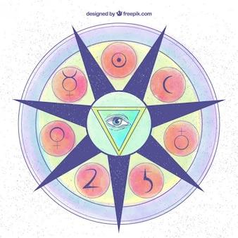 Símbolo espiritual de colores