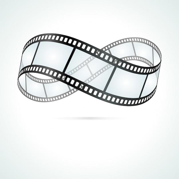 Símbolo de la eternidad de la ilustración de la película en rollo