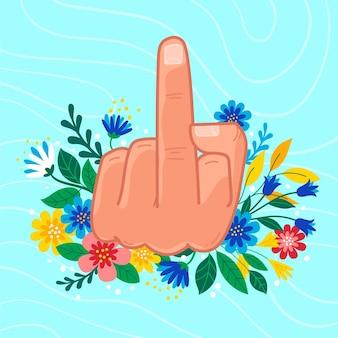 Símbolo floral que te jodan