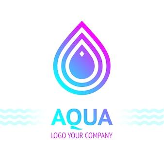 Símbolo de gota de agua, icono de plantilla de logotipo para su diseño