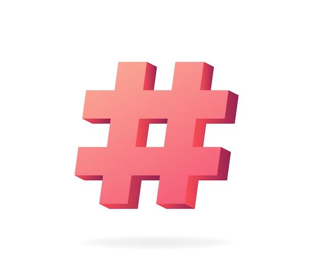 Símbolo hashtag