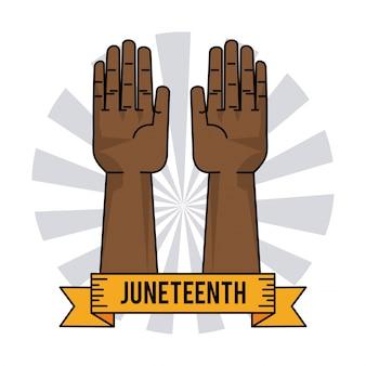 Símbolo humanitario de la esclavitud del día dieciocho