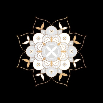 Símbolo indio de la flor de mandala oriental