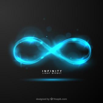 Símbolo de infinito con destello de lente