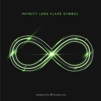 Símbolo del infinito con destellos