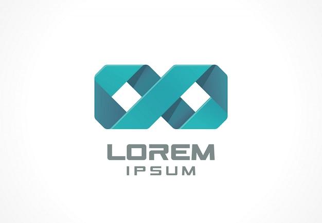 Símbolo de infinito. elemento de icono idea de logotipo abstracto para empresa comercial. finanzas, comunicación, tecnología, conceptos médicos. pictograma para plantilla de identidad corporativa. ilustración