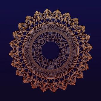 Símbolo de mandala dorado unión curativa