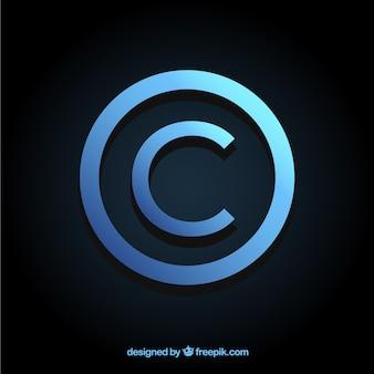 Símbolo moderno de copyright