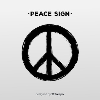 Símbolo moderno de la paz con estilo grunge