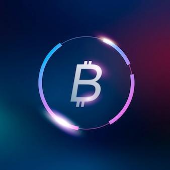 Símbolo de moneda de bitcoin icono dinero