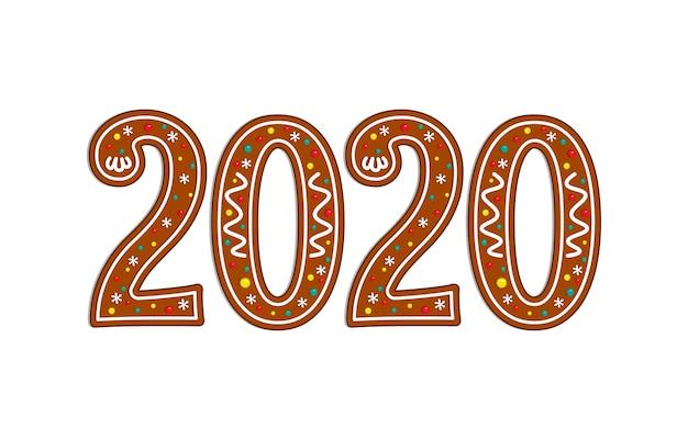 Símbolo de navidad 2020 de pan de jengibre