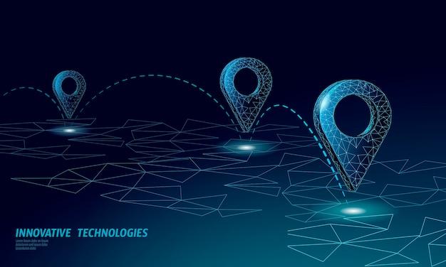 Símbolo de negocio de ubicación de punto de mapa. planeta mundial de entrega poligonal icono realista. envío compras en línea dirección ciudad dirección posición pin