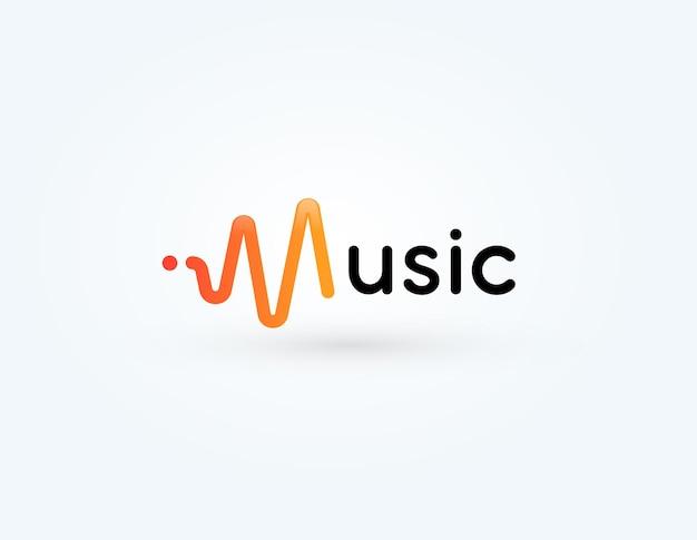 Símbolo de onda sonora del logotipo de la onda de radio