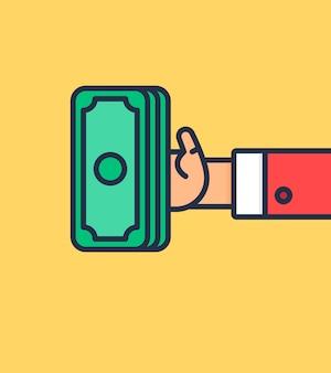 Símbolo de pago y documento