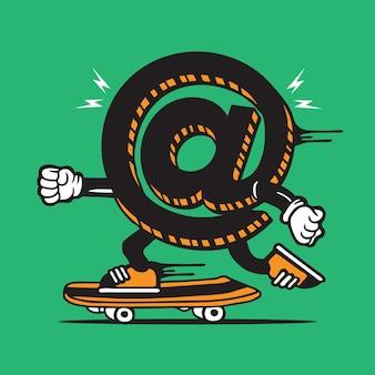 Símbolo patinador skateboard diseño de personajes