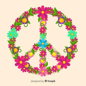 Símbolo de paz floral