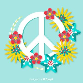 Símbolo de la paz floral