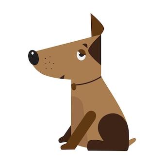 Símbolo de perro del año nuevo 2018. divertida mascota doméstica. diseño para clínica veterinaria, vivero canino.