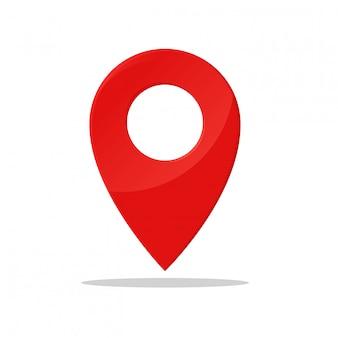 Símbolo de pin indica la ubicación del mapa gps.