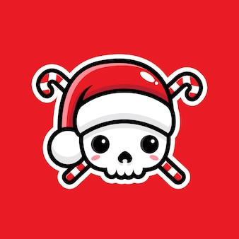 Símbolo de pirata lindo santa claus aislado en rojo