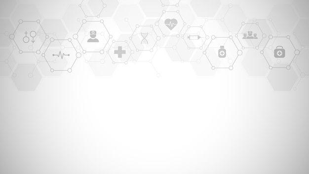 Símbolo de la química abstracta sobre fondo gris suave con fórmulas químicas y estructuras moleculares, concepto e idea para la tecnología de la ciencia y la innovación.