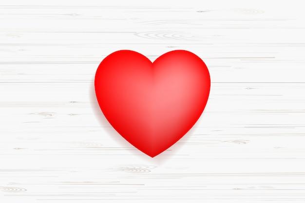 Símbolo rojo abstracto del corazón.