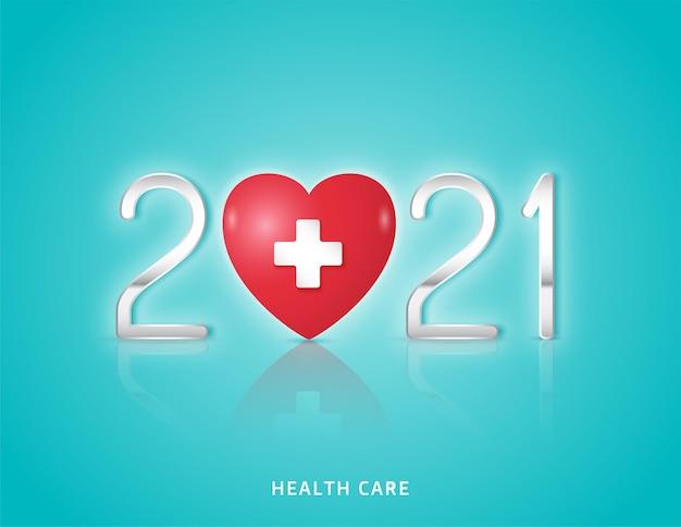 Símbolo de salud y corazón médico y sanitario