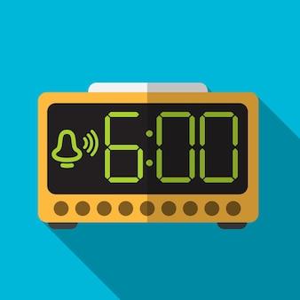 Símbolo de signo de alarma eléctrica plana icono ilustración vector aislado