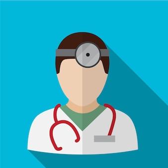Símbolo de signo de doctor plano icono ilustración vector aislado