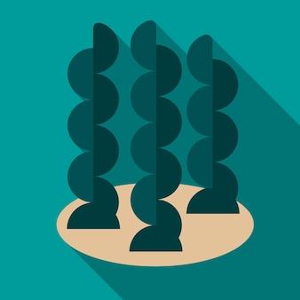 Símbolo de signo de vectro aislado de ilustración de icono plano de algas