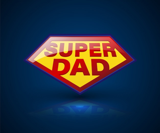 Símbolo de super dad shield para elemento día del padre