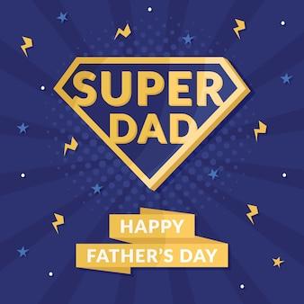 Símbolo del superhéroe del concepto del día del padre