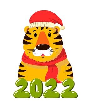 Símbolo del tigre de año nuevo del año 2022