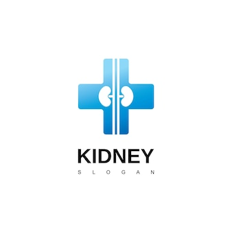 Símbolo de urología del logotipo del riñón