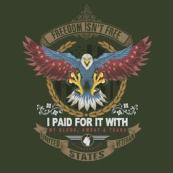 Símbolo de veterano águila americana