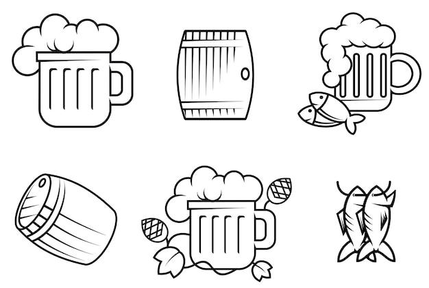 Símbolos de cerveza y alcohol