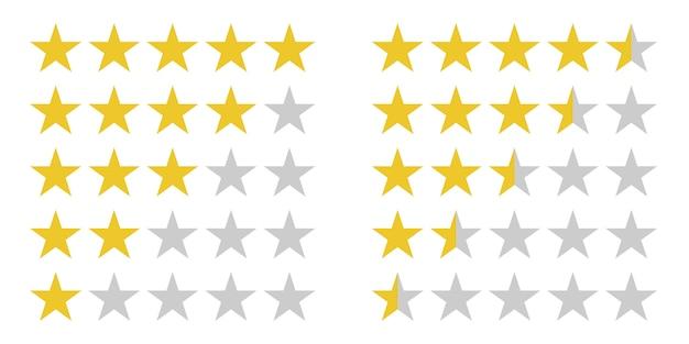 Símbolos de clasificación por estrellas