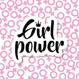 Símbolos de género femenino estilo pop art patrón