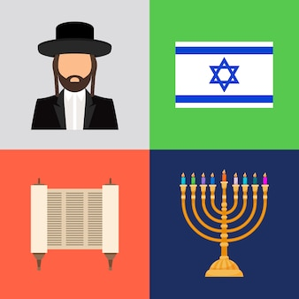 Símbolos judíos y judaísmo.