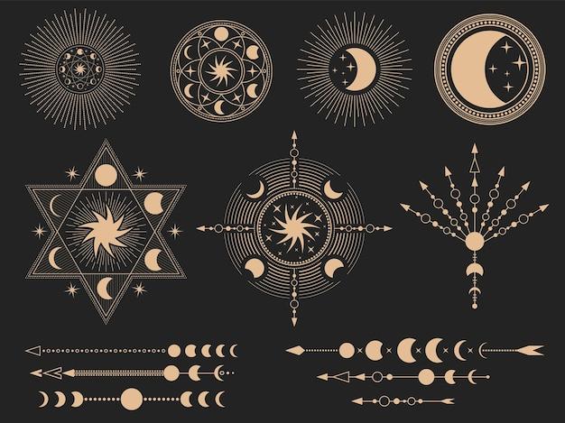 Símbolos mágicos místicos.
