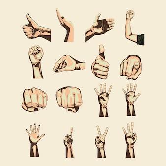 Simbolos de manos