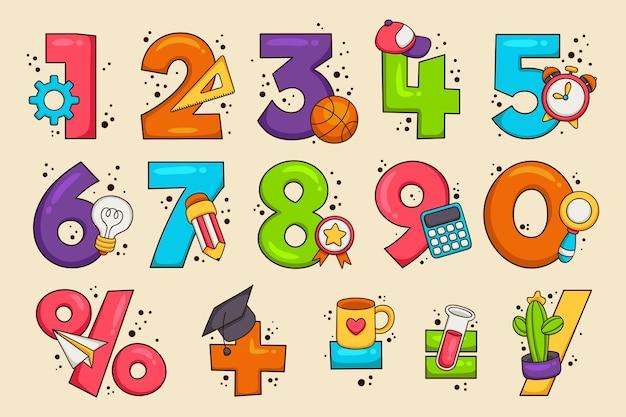 Símbolos matemáticos dibujados a mano