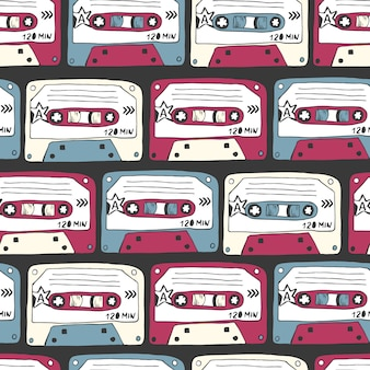Símbolos musicales patrón sin fisuras de la música rock.