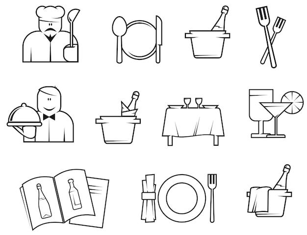 Símbolos de restaurantes