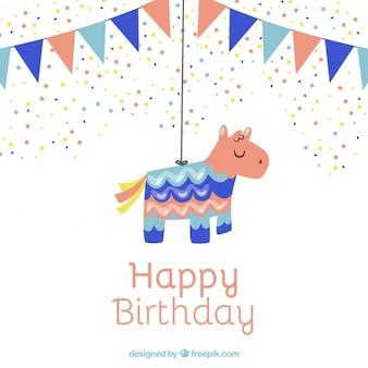 Simpática piñata para cumpleaños
