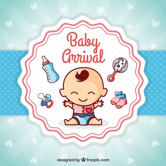 Simpática tarjeta de recién nacido