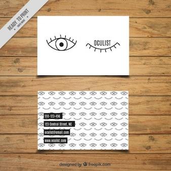 Simpática tarjeta de oculista