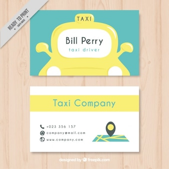 Simpática tarjeta de taxista